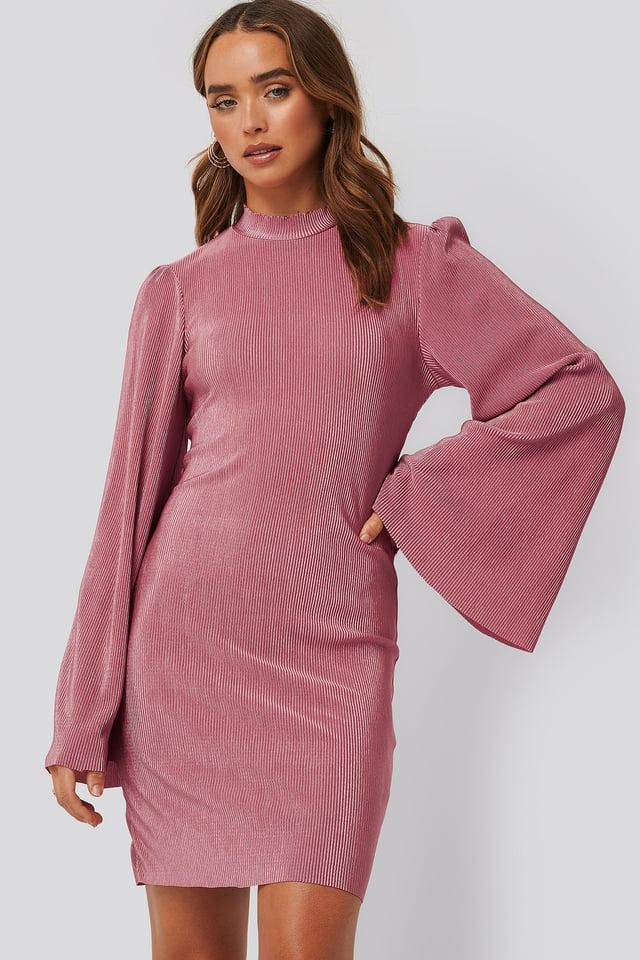 Sukienka Plisowana Pink