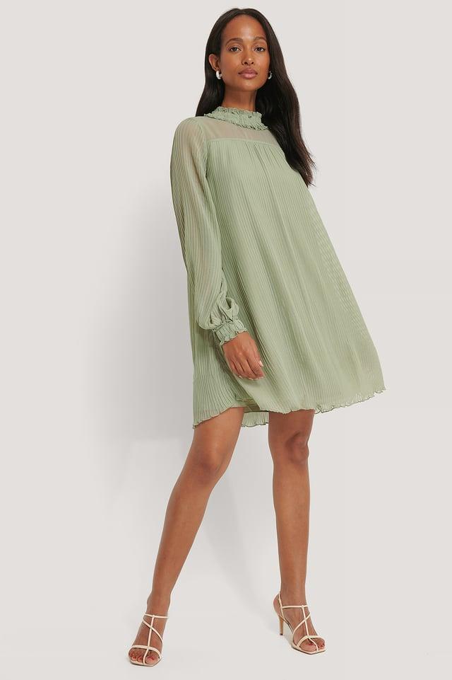 Dusty Green Miniklänning