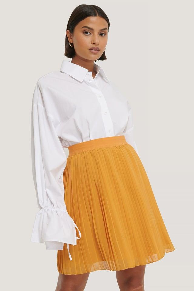Plisserad Minikjol Yellow