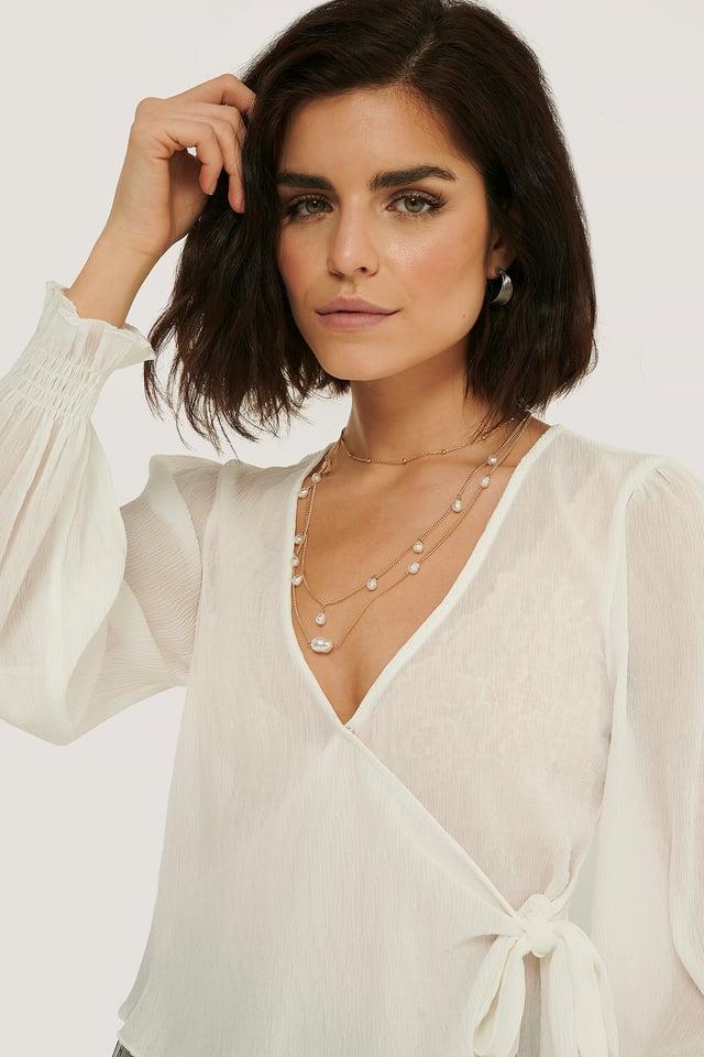 Bluzka Plisowana White