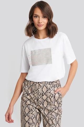 White Poetry Oversized T-shirt