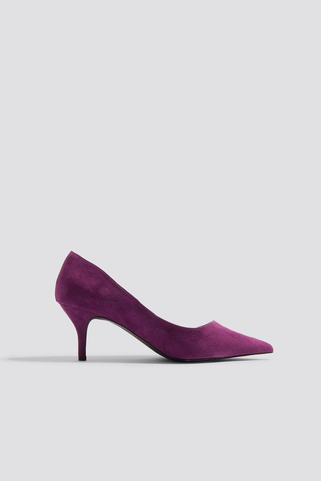 Pointed High Heels Purple