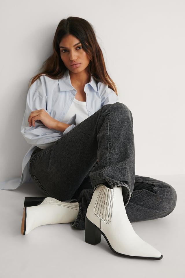 White Støvler