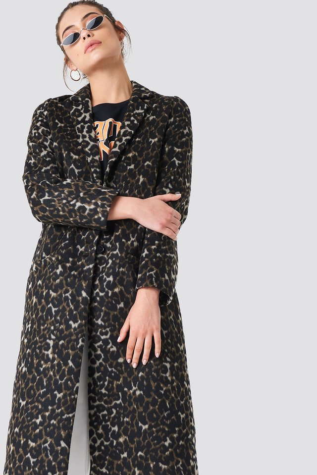 Printed Coat Leoprint