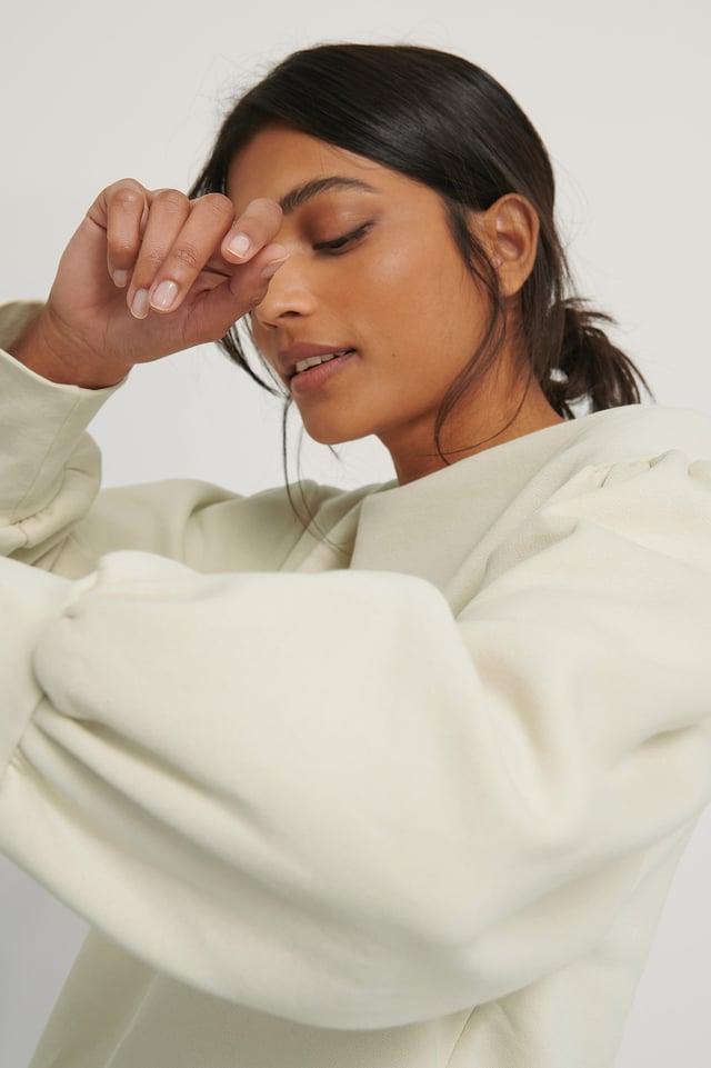 Organisch Sweatshirt Beige