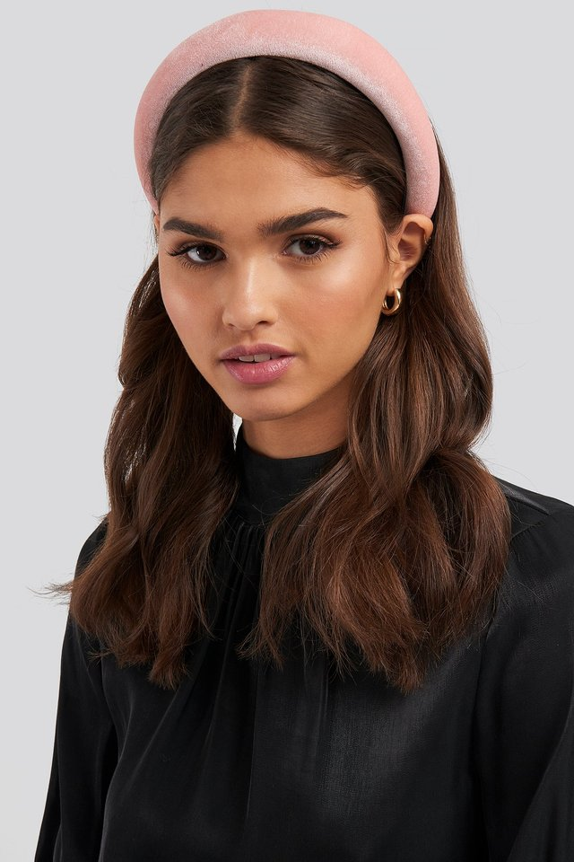 Puff Velvet Hairband Light Pink