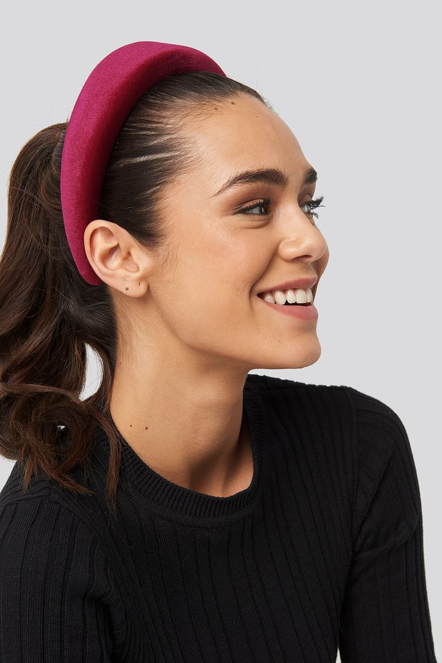 Burgundy Puff Velvet Hairband