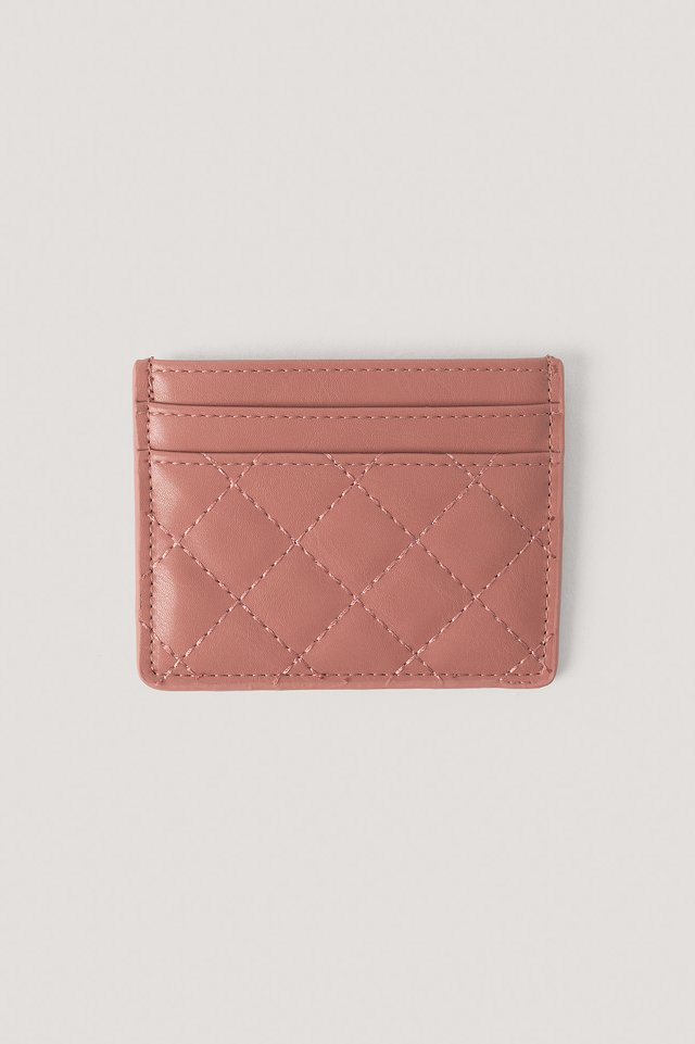 Quilted Card Holder Dusty Rose