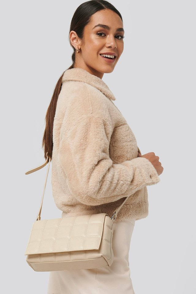 Quilted Crossbody Bag Natural