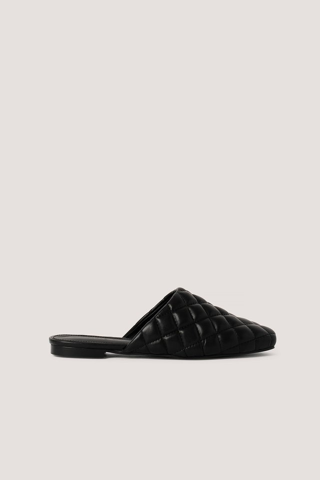 Quilted Loafers Black