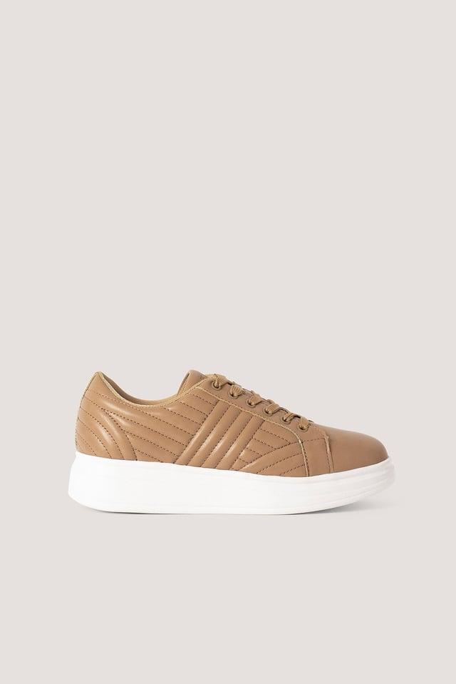 Klassische Sneakers Beige