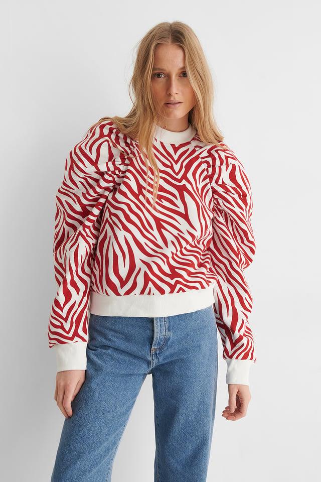Maglione Con Manica Raglan Zebra