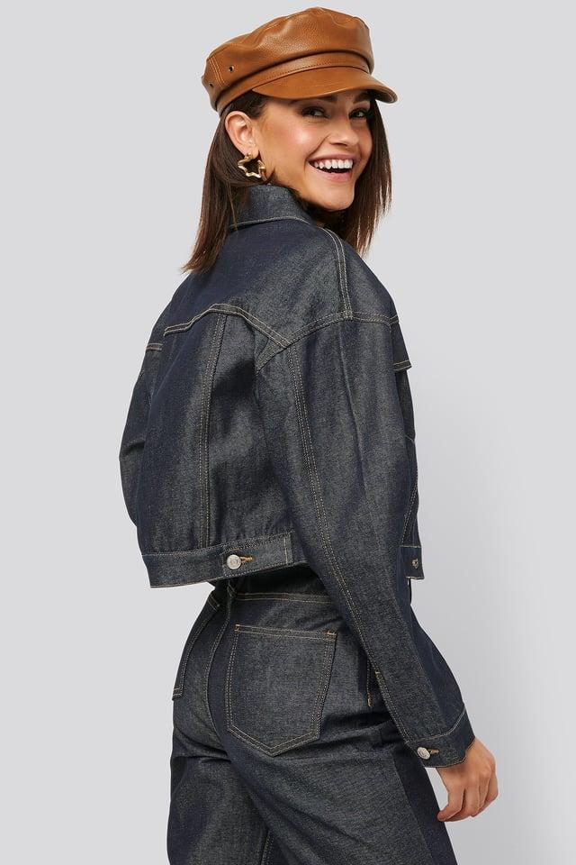 Raw Denim Jacket Dark Blue