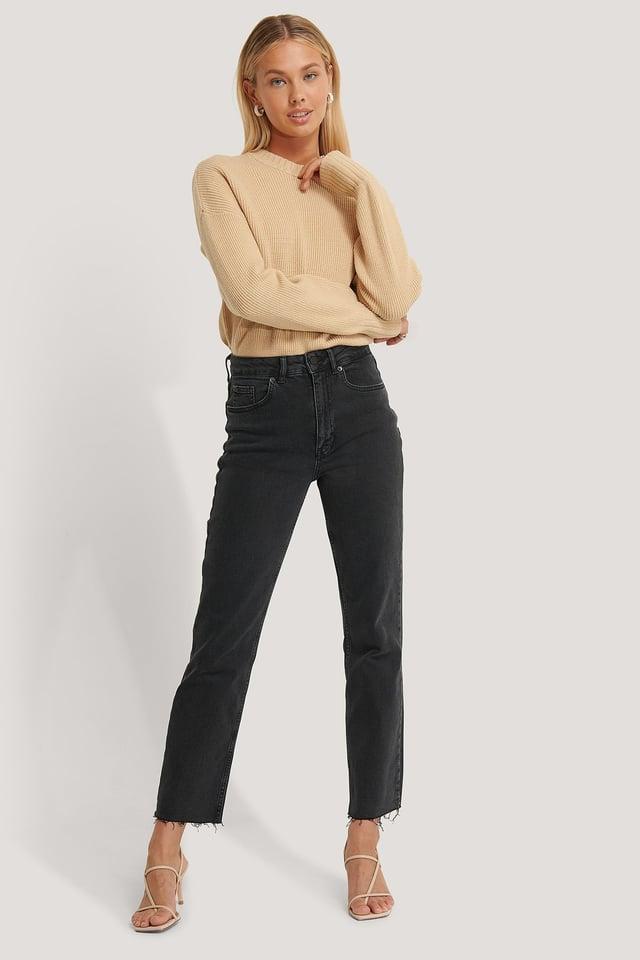 Jeans Washed Black
