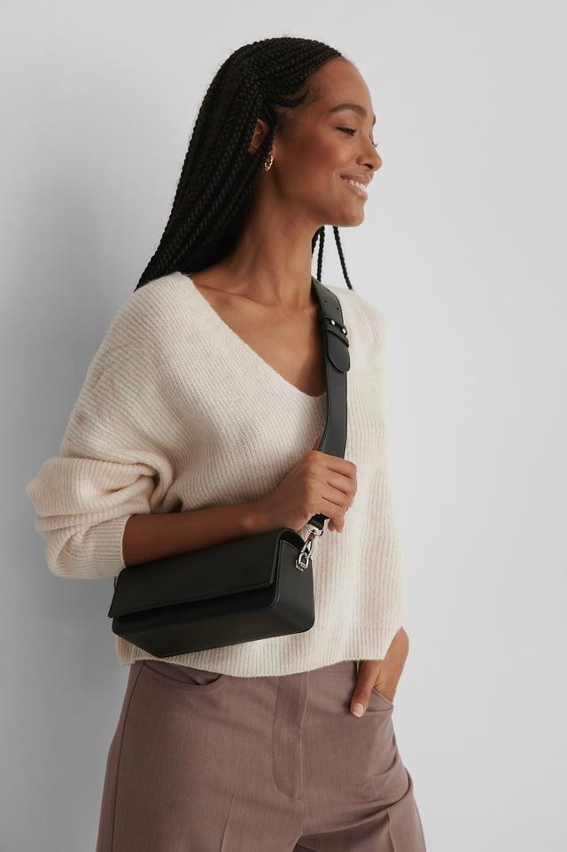 Black Rectangular Shoulder Bag