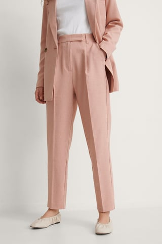 Rust Recycled Cropped Suit Pants
