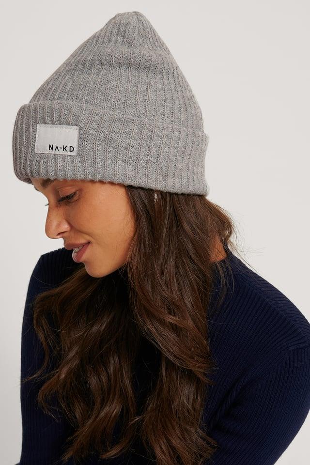 Recycelt Logo-Mütze Grey Melange