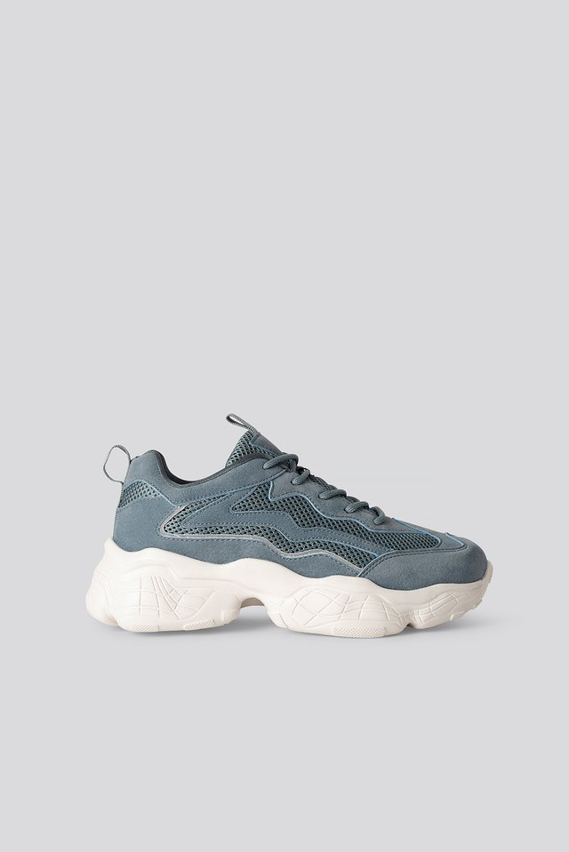 Reflective Detailed Trainers Dusty Blue