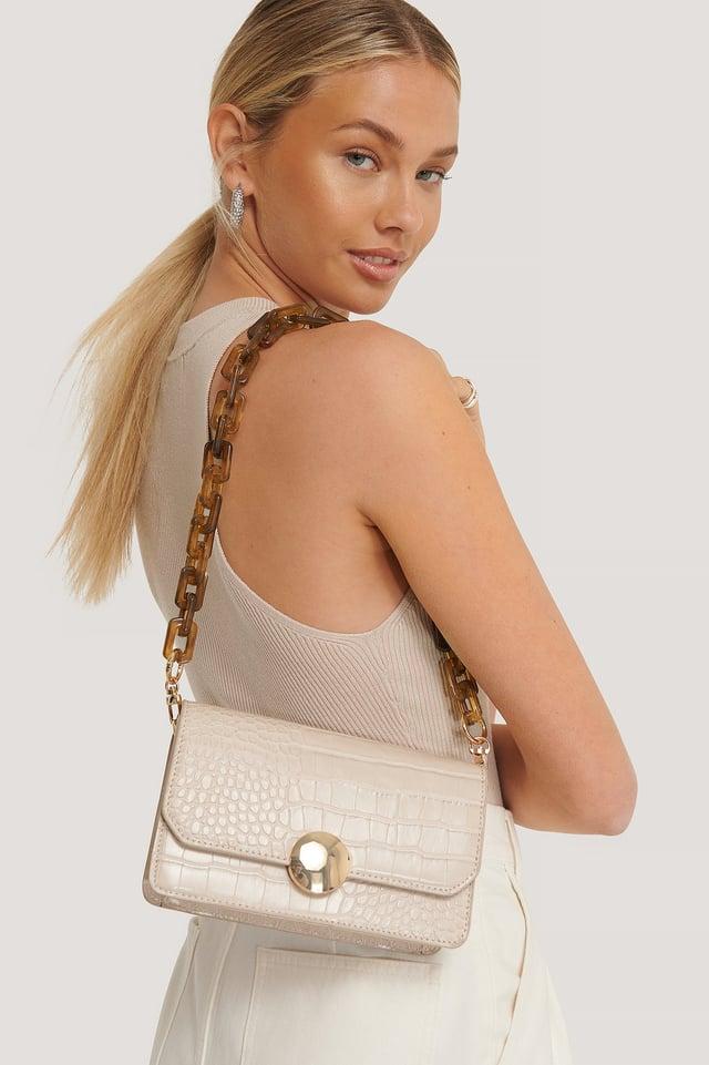 Brown Removable Resin Shoulder Bag Strap