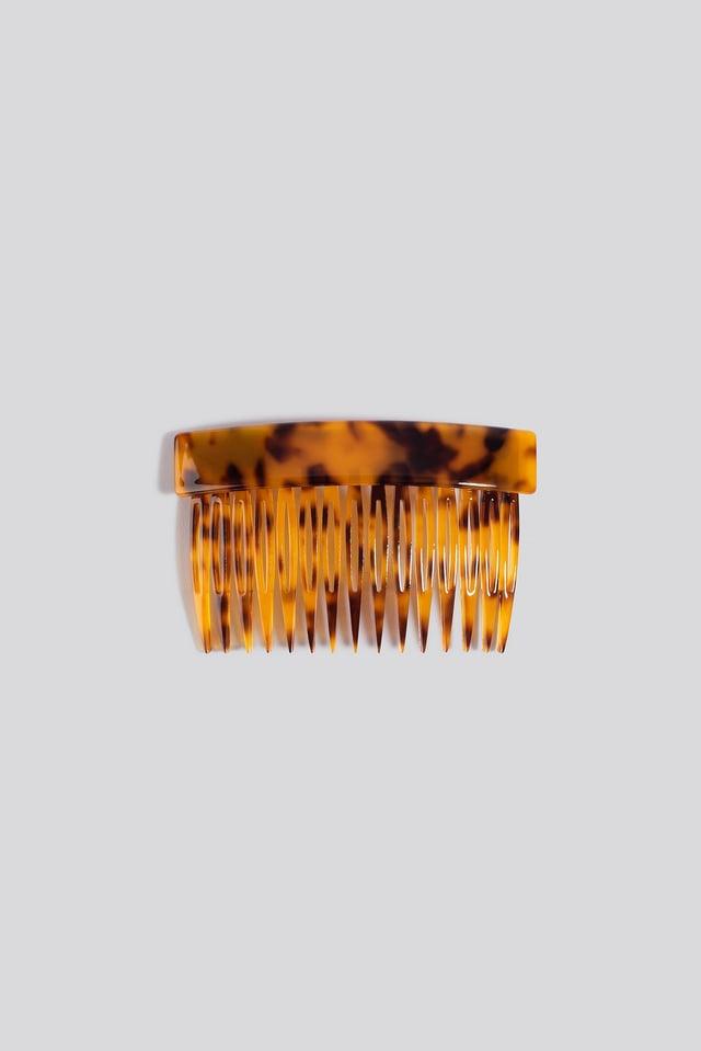 Resin Hair Comb Tortoise