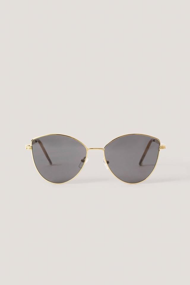 Gold Retro Cateye Sunglasses