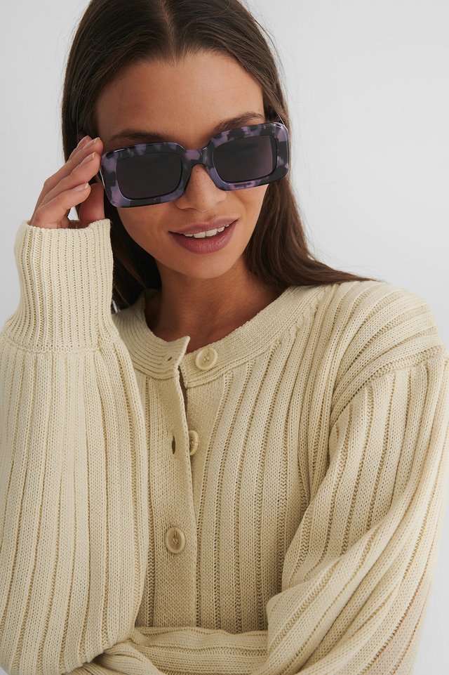 Retro Look Sunglasses Lilac