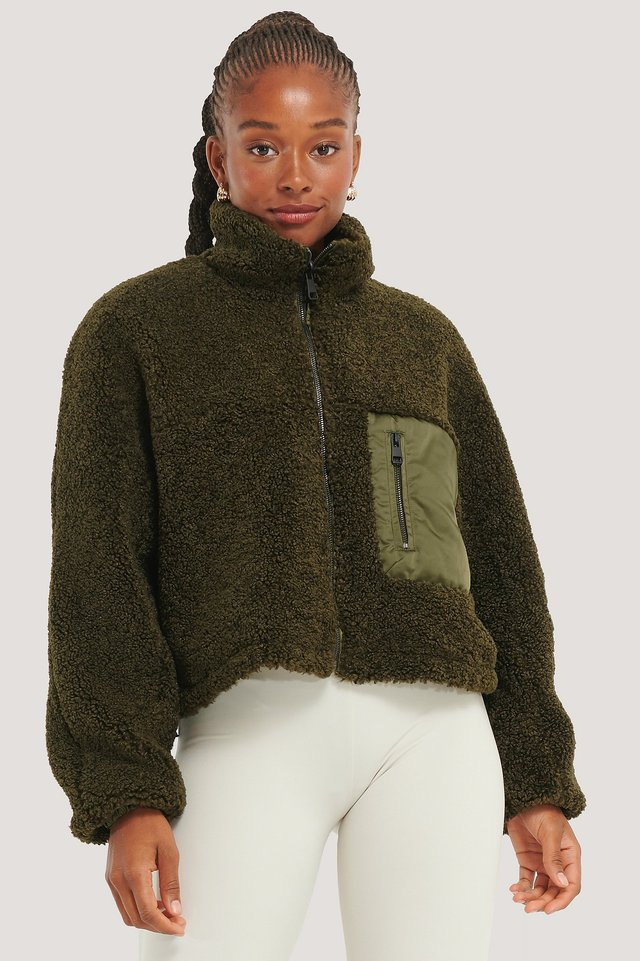 Reversible Teddy Jacket Green