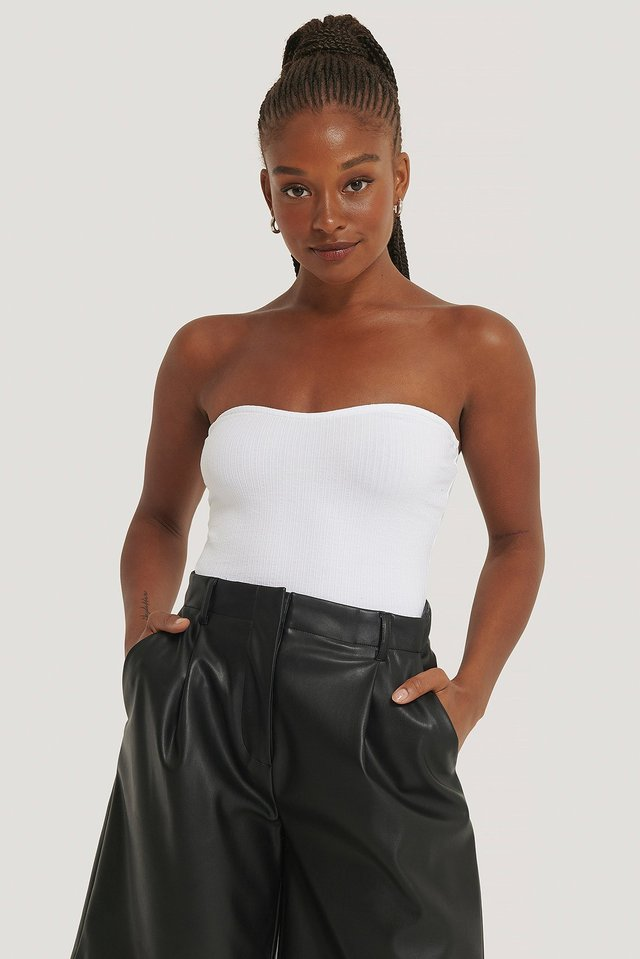 Ribbed Bustier Top NA-KD Trend