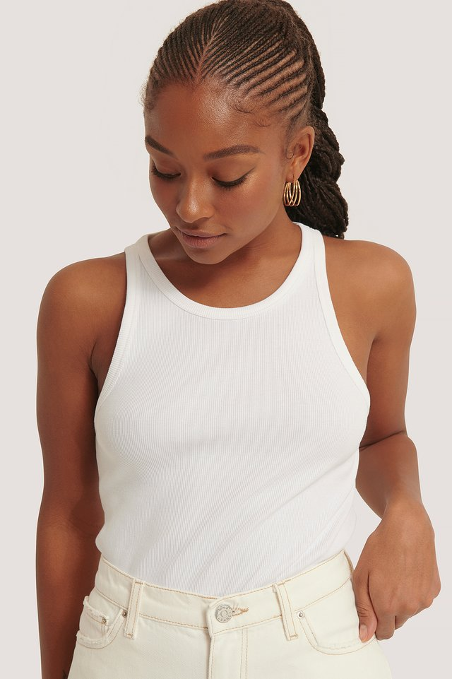 Ribbet Top White