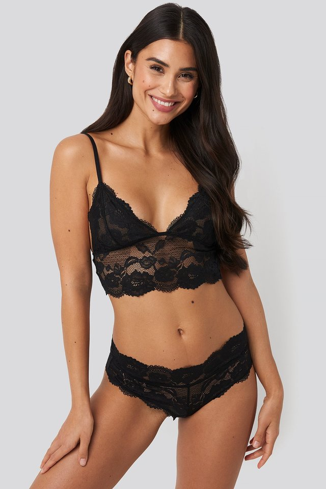 Romantic Lace Hipster Black