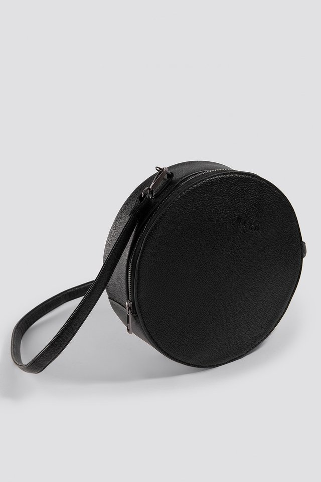 Round Crossbody Bag Black