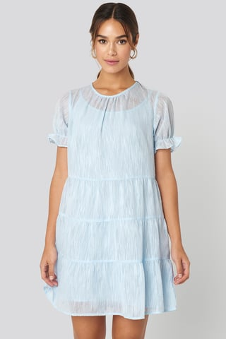 Light Blue Bawełniana Sukienka