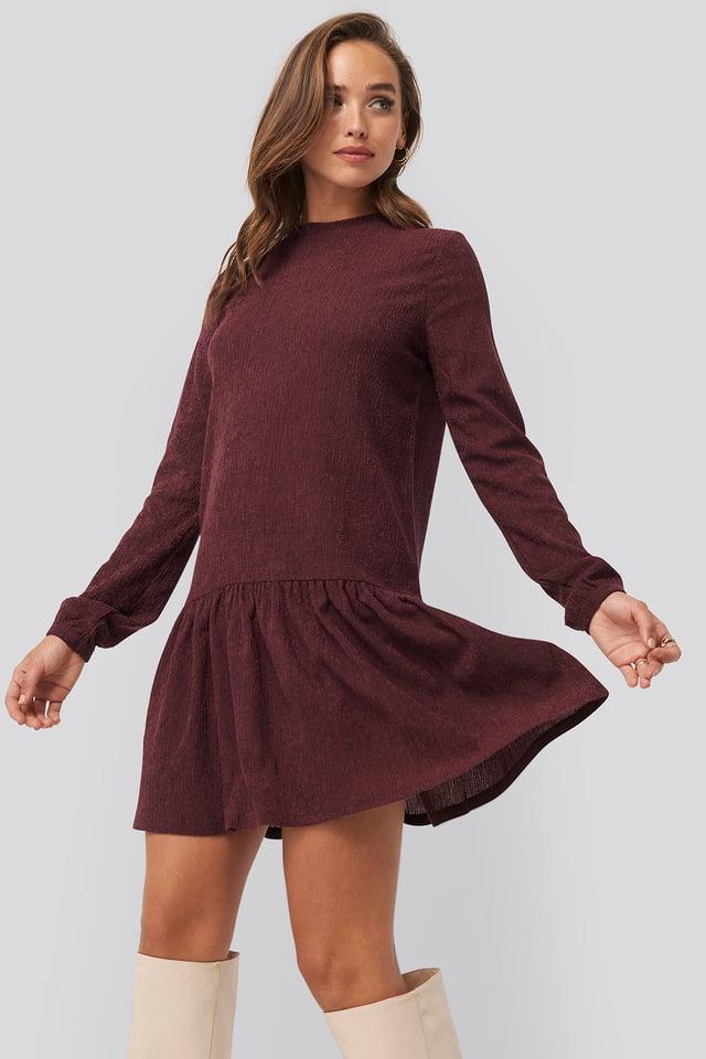 Round Neck Jersey Dress Pink
