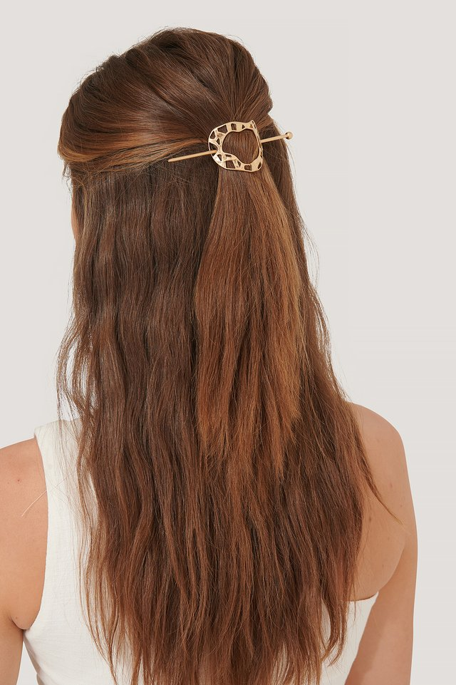 Round Uneven Hairpin Gold