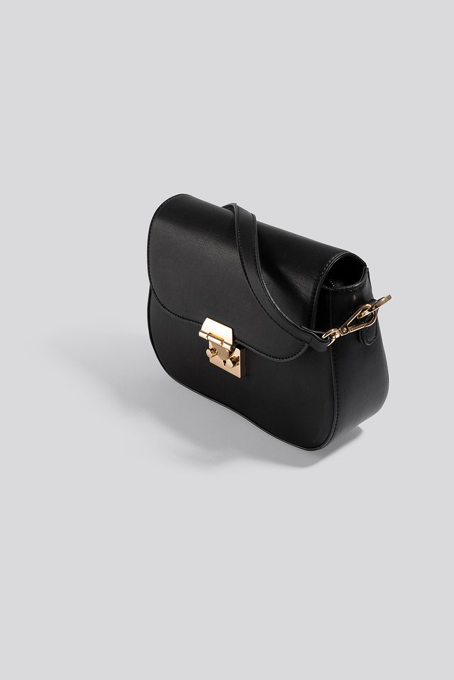 Rounded Bottom Saddle Bag Black