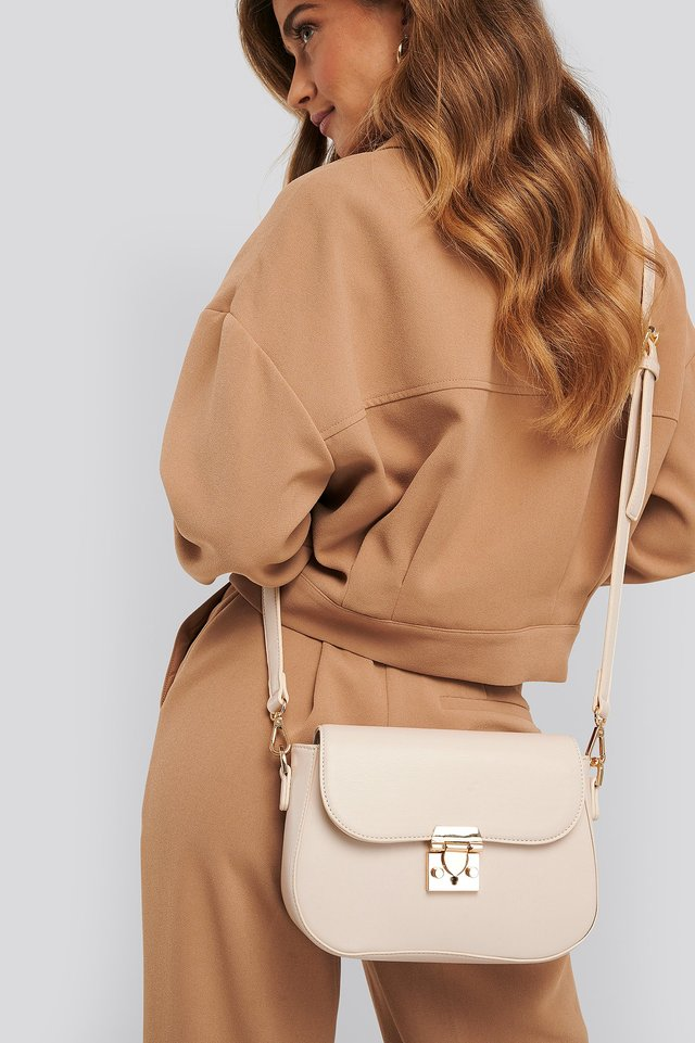 Rounded Bottom Saddle Bag Nude