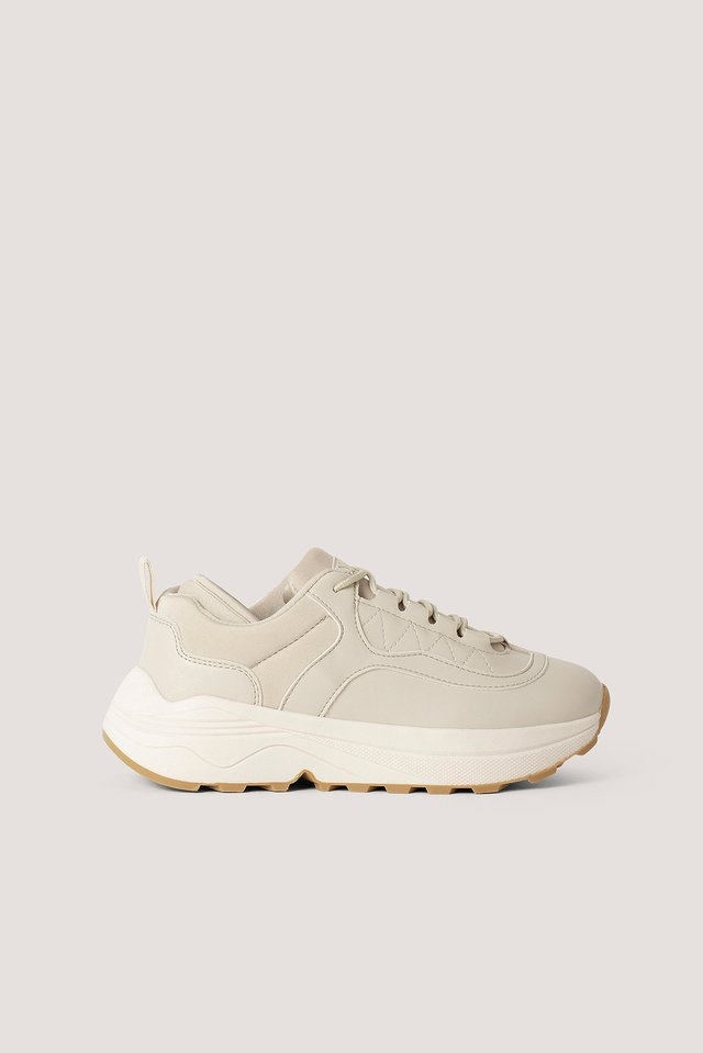 Rounded Chunky Trainers Nude