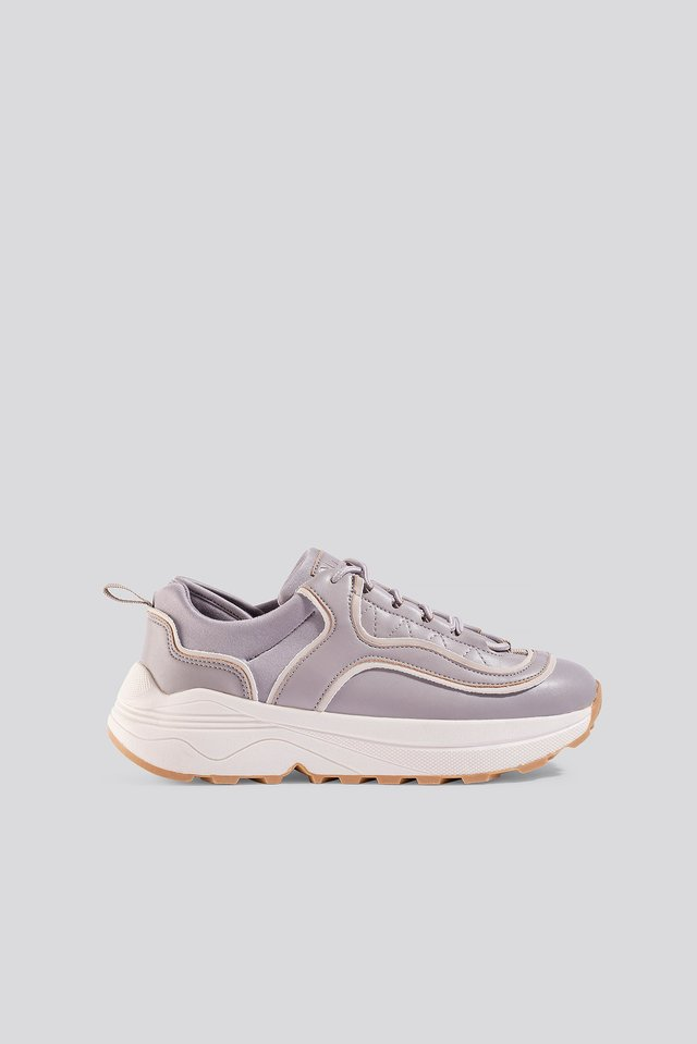 Rounded Chunky Trainers Lilac