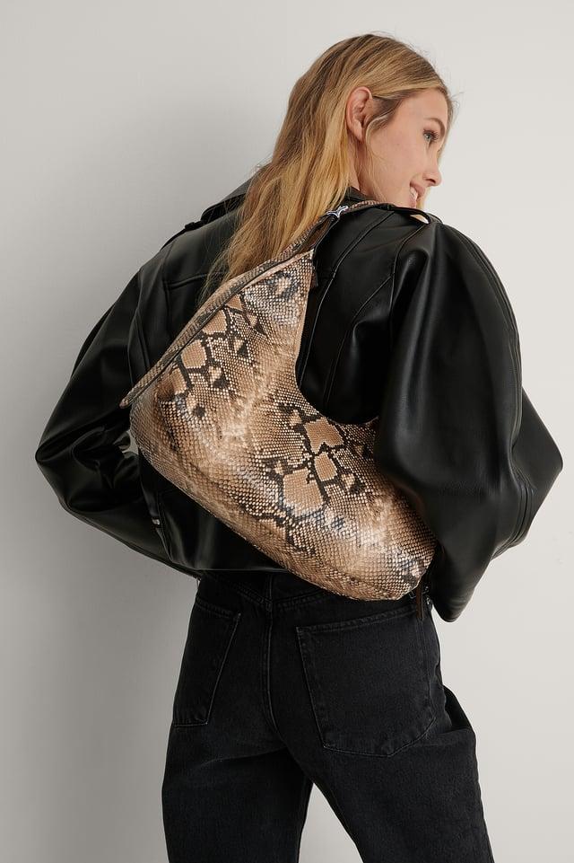 Snake Recycled Rounded Shoulder Bag