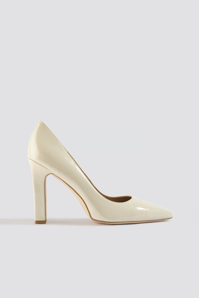 Nude Rounded Toe Pumps