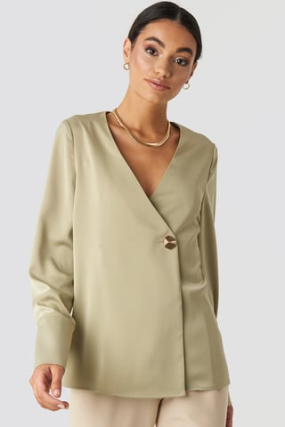 Olive Satin Blouse
