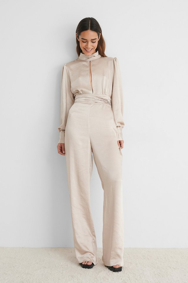 Jumpsuit I Sateng Champagne