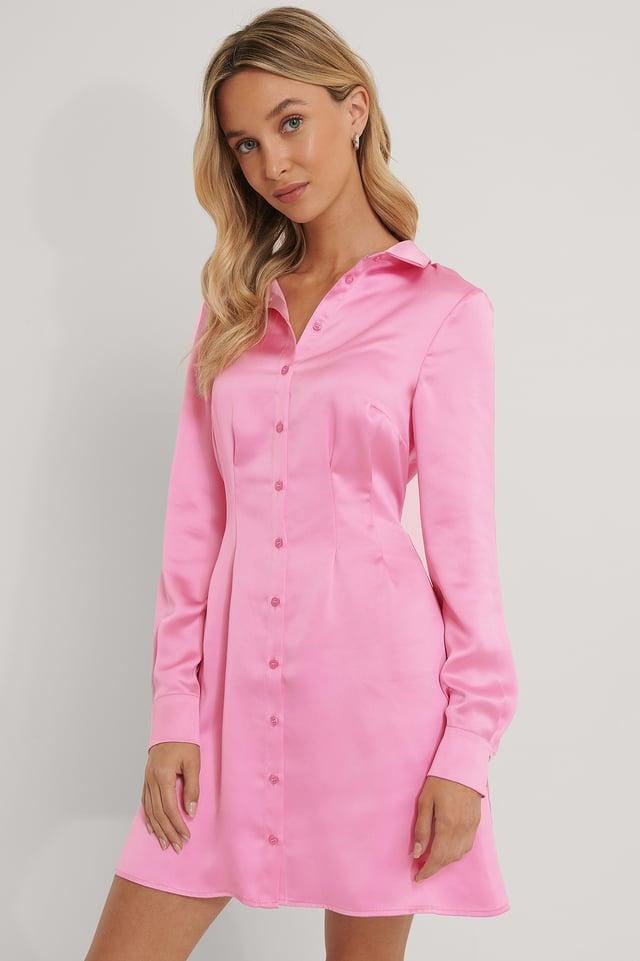 Satijnen Shirt Pink