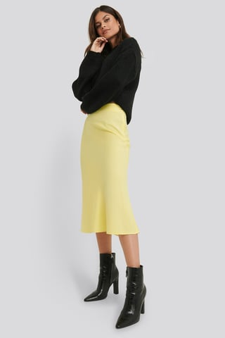 Yellow Satin Skirt
