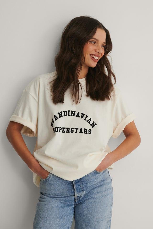 Beige Ekologisk T-shirt