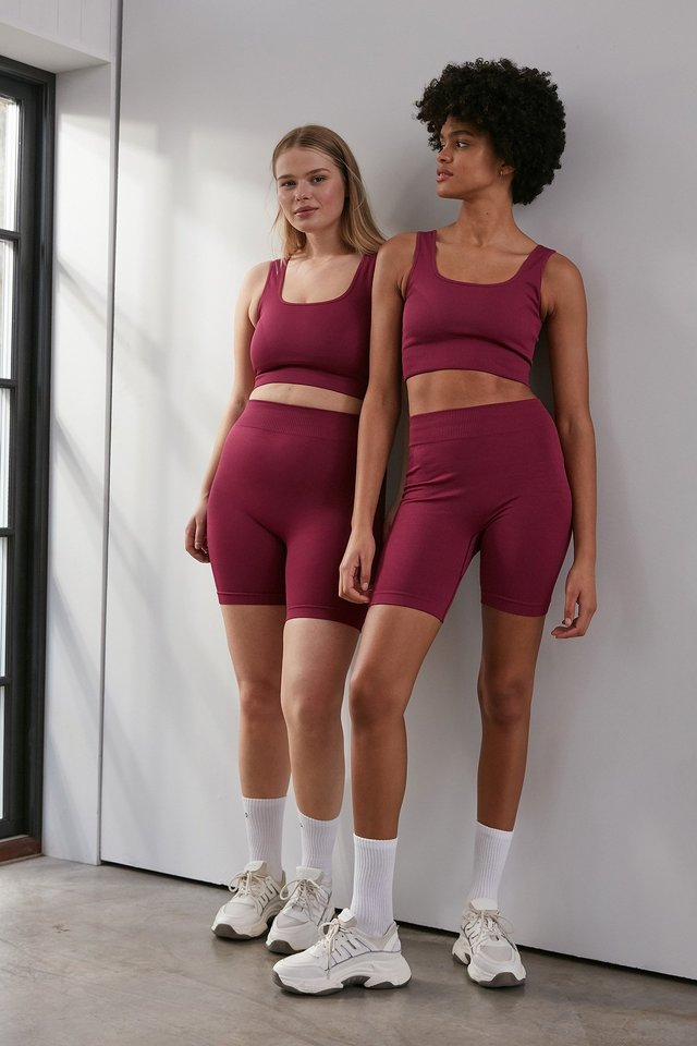 Plum Seamless Shorts