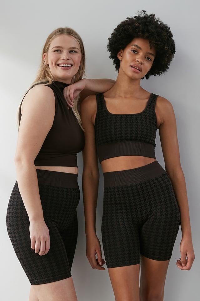 Black/Brown Seamless Shorts