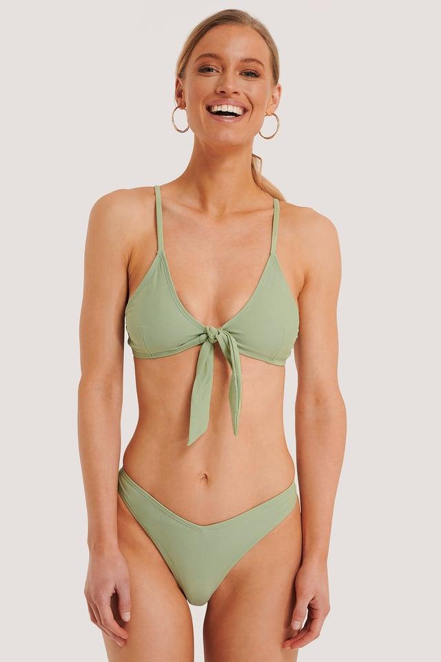 V-Shape Front Bikini Bottom Dusty Green