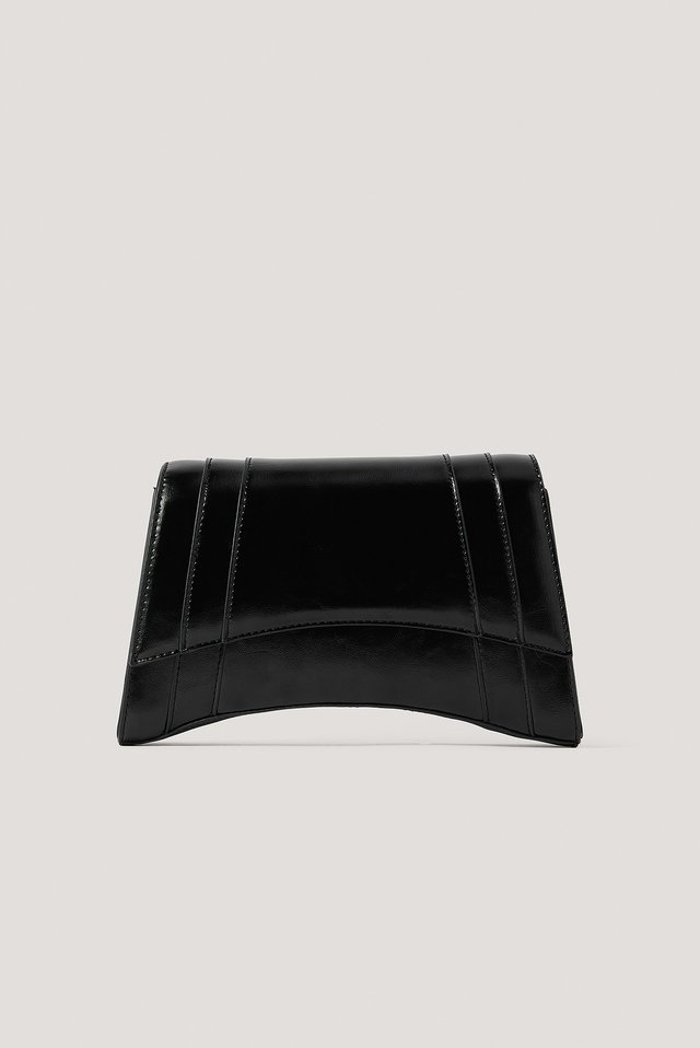 Black Sharp Edge Shoulder Bag