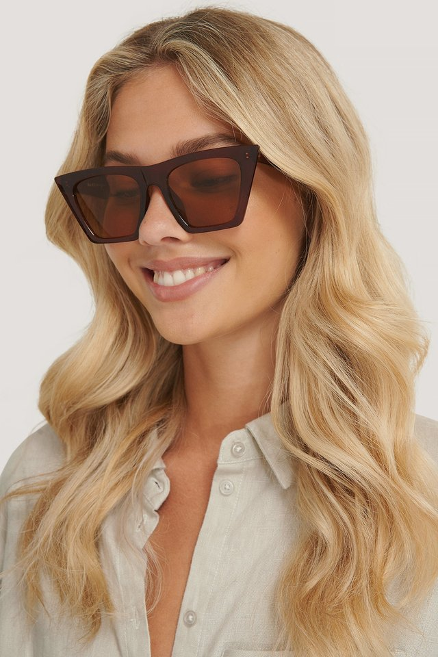 Sharp Squared Sunglasses Brown